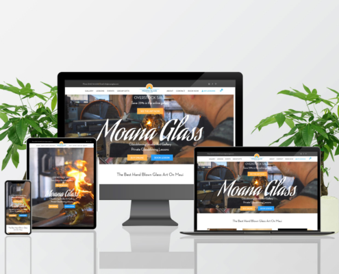 Moana Glass Blowing Website