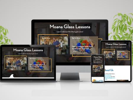 Moana Glass Blowing Website